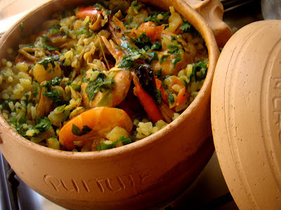 pratos chiques de arroz fotos
