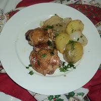 Receita de frango assado com batatas