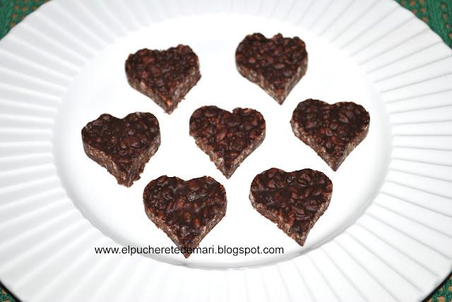 Recetas para San Valentín :  CORAZONES DE CHOCOLATE