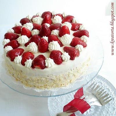 Epres-fehércsokis-mascarponés torta