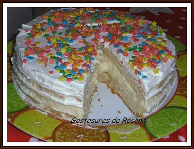 bolo de chocolate recheado bem simples