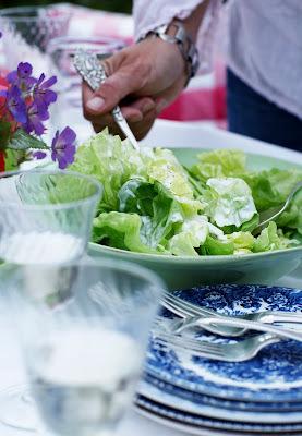 Salat med mormor-dressing
