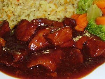 Filet de porc sauce à l'orientale