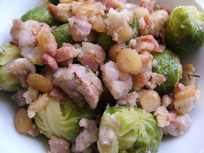 CASTAÑAS CON REPOLLITOS DE BRUSELAS - CHESTNUTS WITH BRUSSELS SPROUTS
