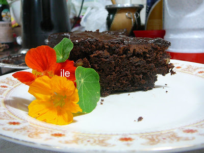 Brownie con nueces y chips de chocolate