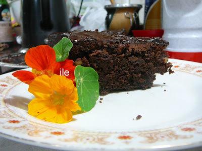 Brownie con nueces y chips de chocolate
