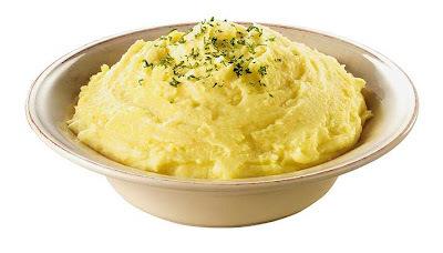 purê de batatas com frango desfiado