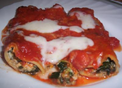 Cannelloni di ricotta-spinaci-mozzarella