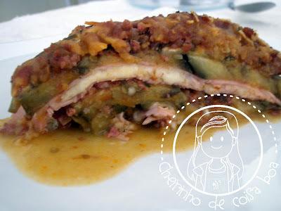 lasanha com recheio de sardinha