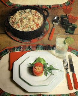 Risoto de Frutos do Mar e Tomates Recheados com Arroz e  Camarão