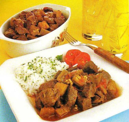 Carne picada com Berinjela