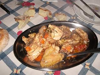 como fazer galinha cozida simples
