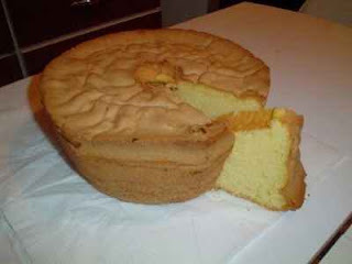 pão de ló para forma retangular