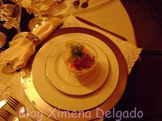 platos de entrada con palmitos