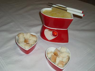 Fondue de queijo para o dia dos namorados