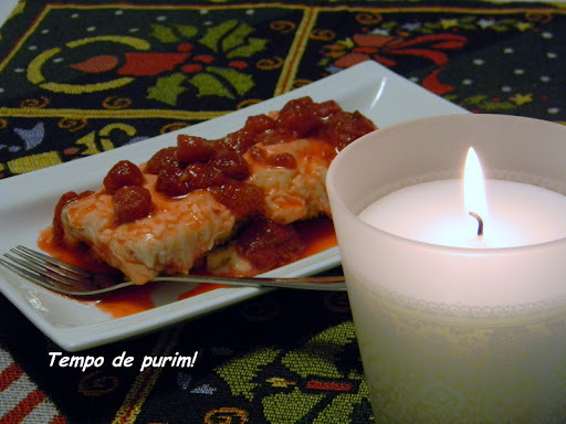 Barrinhas de mascarpone com frutas vermelhas (Berry mascarpone bars)