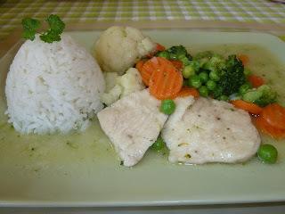 Kuracie mäso na zelenine
