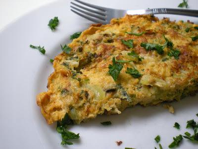 Cardápio completo: Omelete e Salada Caesar...pra hora da preguiça...bom!!!!