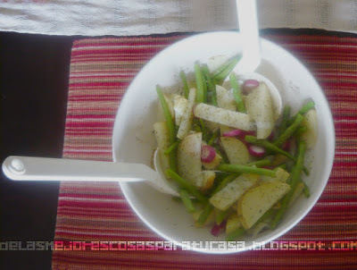 Receta ensalada de papa light/Light Potato salad recipe
