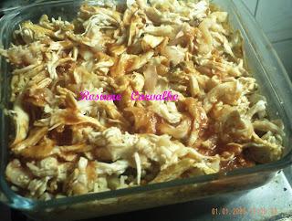 arroz de forno com frango e queijo