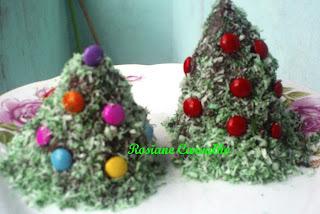 fotos e receitas de mini bolo de natal
