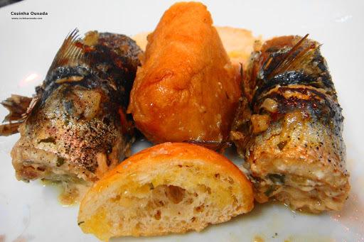 sardinha espalmada no forno