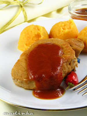 Svinjski kare sa sosom od breskve