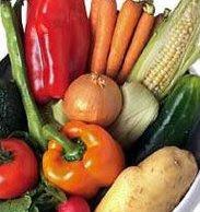 Verduras glaseadas con pescado