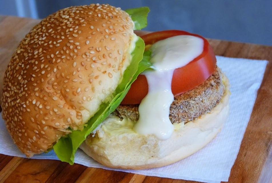 Receita: hambúguer de grão-de-bico e PVT