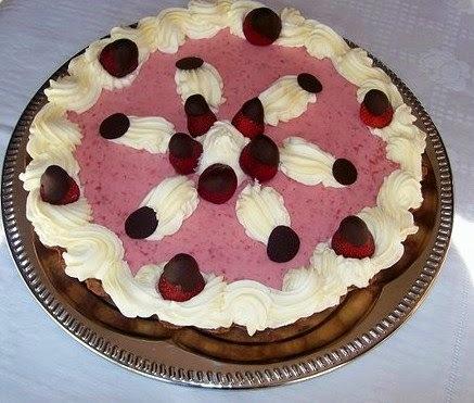 Torta mousse de mora y chocolate
