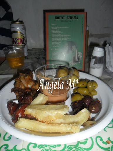 Aipim frito salpicado com queijo parmesão ralado- FESTA DO BOTECO - evento realizado por mim em Salvador - 04/11/2011