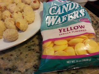 Rava Laddo wih Yellow Chocolate / Semolina Balls