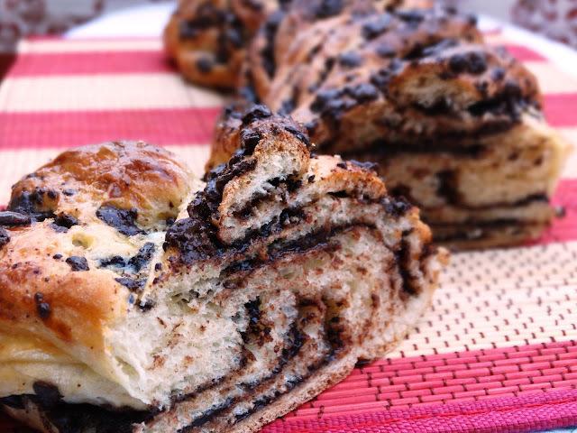 Pão Trançado de Chocolate
