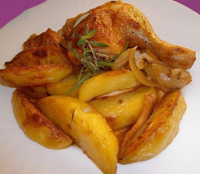 Jednoduché kura pečené na masle