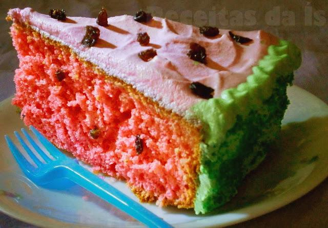 bolo de limao com suco em pó