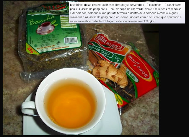 Chá termogênico e aromático delicioso