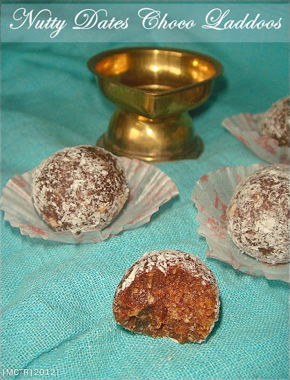 No-bake Nutty Dates Chocolate Balls / Laddoos | Healthy in every bite
