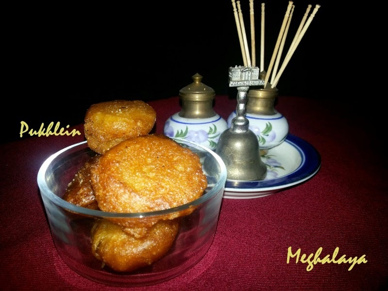 Pukhlein a Rice and Jaggery Sweet - Meghalaya Special