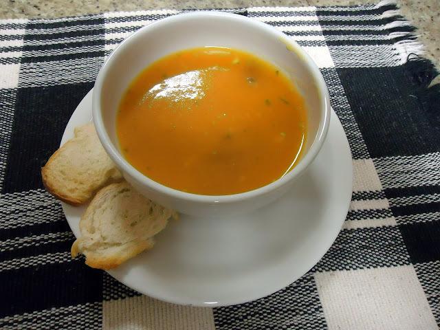 Cenoura, Mel e Gengibre - Delícia de Sopa