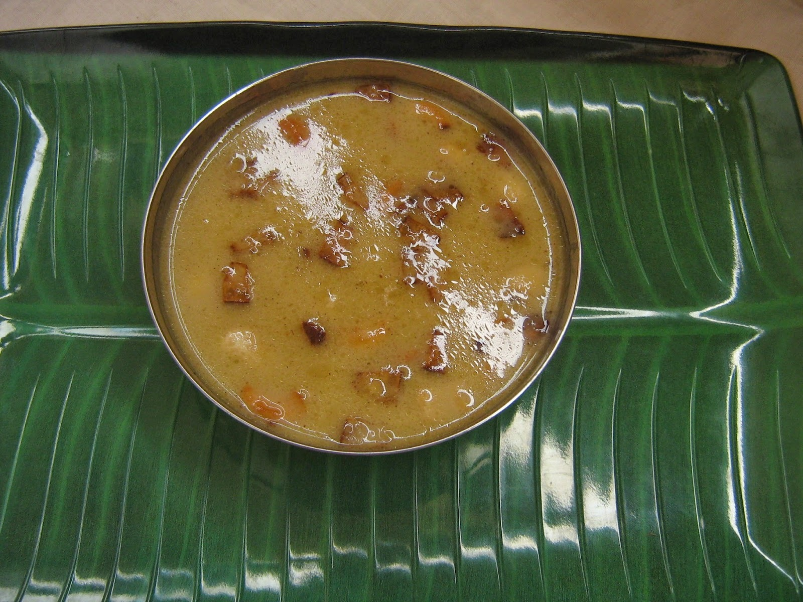 Cheru parippu payasam / Parippu pradhaman/ Lentil in coconut milk and jaggery pudding recipe