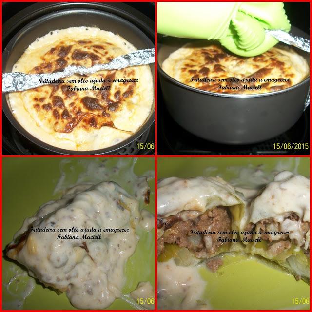 Charutinho de repolho no molho 4 queijos na Fritadeira sem óleo AirFryer