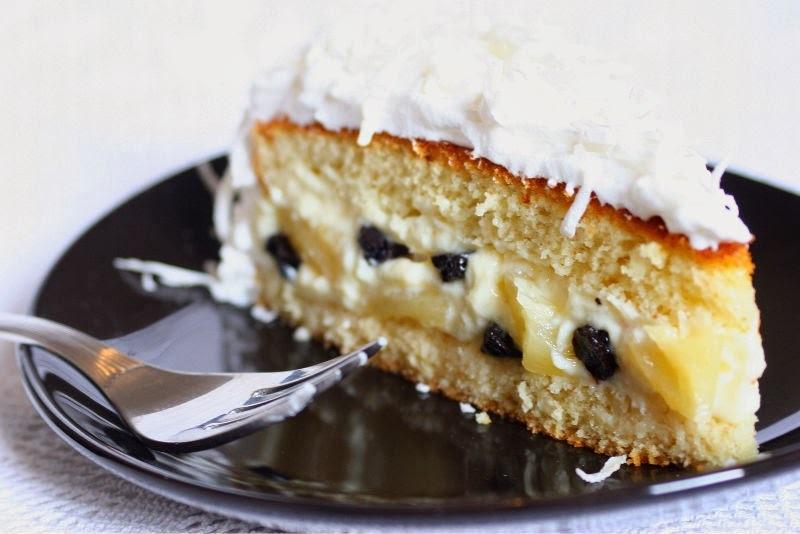 recheio de bolo com pessego em calda