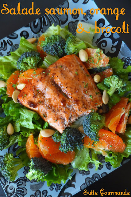 Salade saumon, orange et brocoli