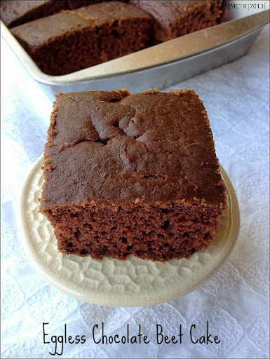 Eggless Beet Chocolate Cake