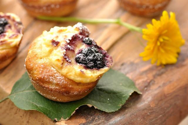 Tvarohovo-čučoriedkové muffiny