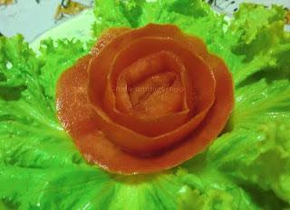 Flores feita com verduras