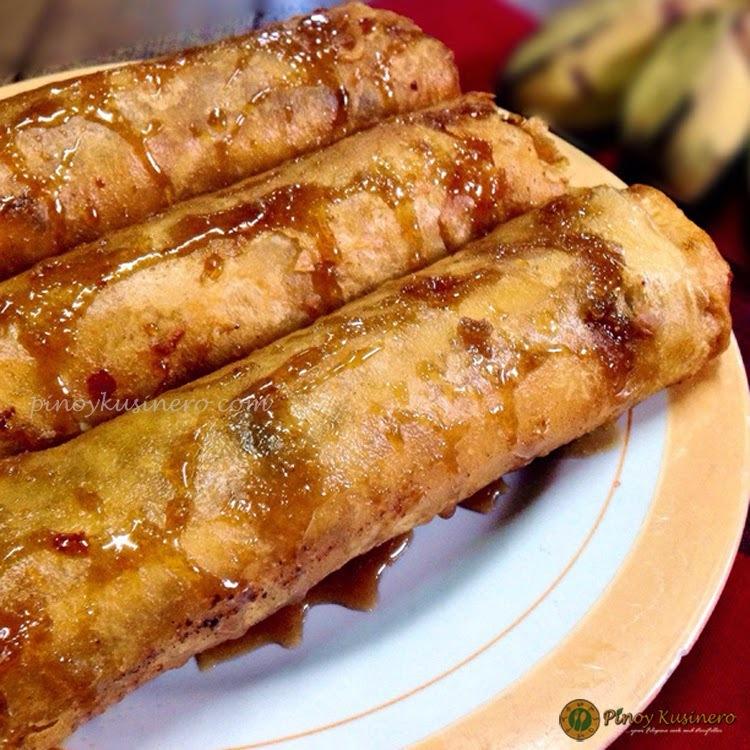 Turon/ Lumpiang Saging (Crispy Banana Spring Rolls)