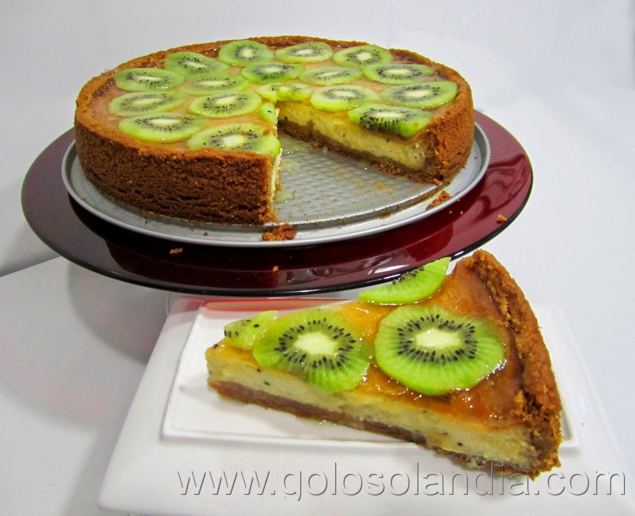 Tarta de kiwi y queso