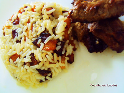 Arroz com banana no azeite [Rice with banana in olive oil]
