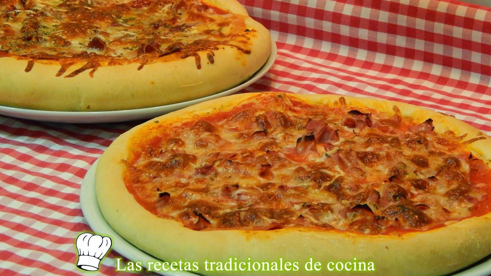 Receta de masa de pizza gruesa y esponjosa
